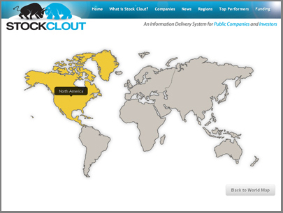 The Stock Clout interactive map