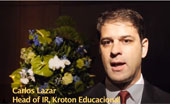 Carlos Lazar, head of IR at Brazil's Kroton Educacional