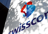 Swisscom logo on the side of a building