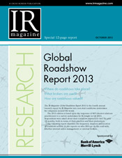 Global Roadshow Report 2013