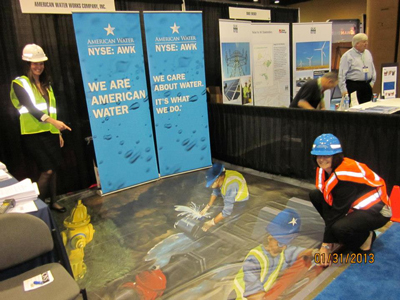American Water's booth at the MoneyShow took attendees below the surface