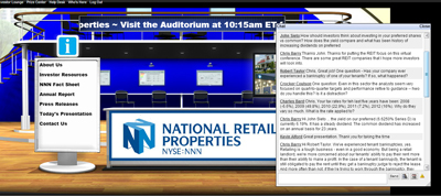 National Retail Properties' virtual booth at RetailInvestorConferences.com