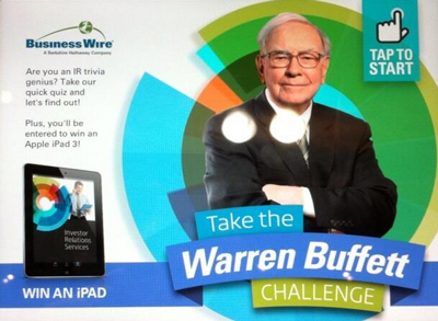 Business Wire's Warren Buffet challenge