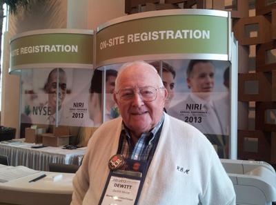 Dick Morrill, NIRI founder and first NIRI fellow