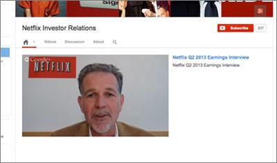 Netflix webcast