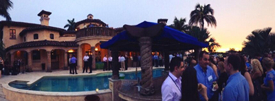 NYSE Euronext's Sunset Soiree event, sponsored by Investis, at a mansion in Fort Lauderdale