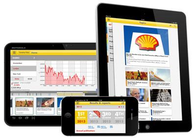 Shell investor relations app