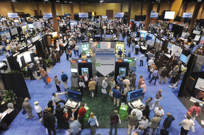 Show and sell: the busy exhibit floor at the MoneyShow