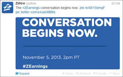 Zillow Twitter feed