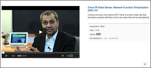 Cisco IR video series