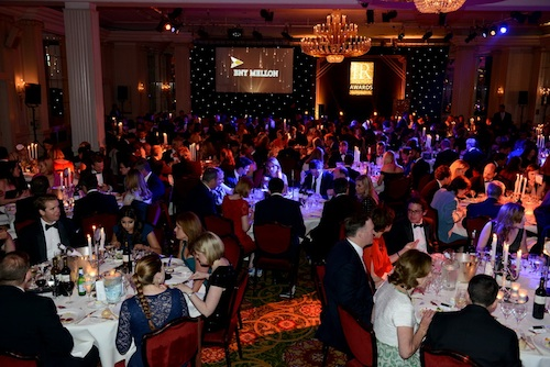 Guests enjoy dinner at the Grosvenor House Hotel