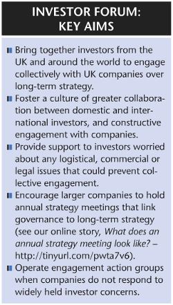 Investor forum key aims