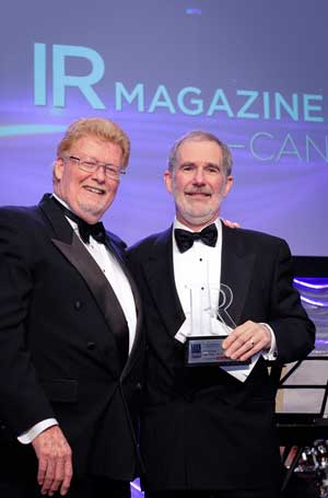 Lifetime achievement winner David Carey of ARC Resources