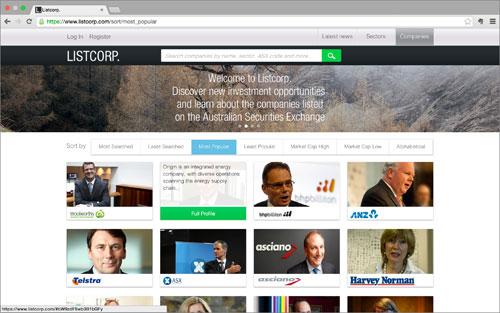 Listcorp homepage