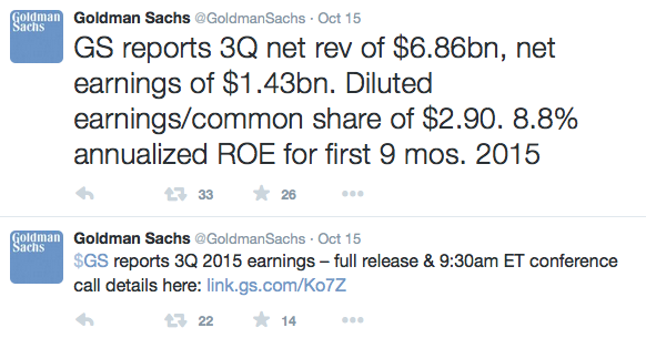 Goldman Sachs tweet