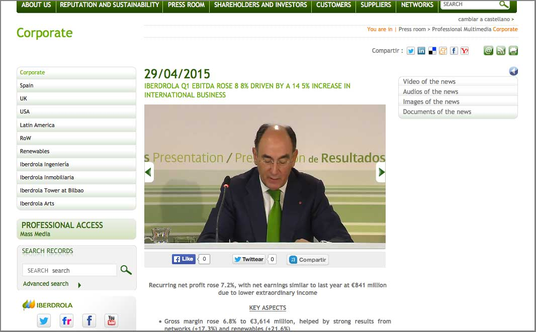 Iberdrola website