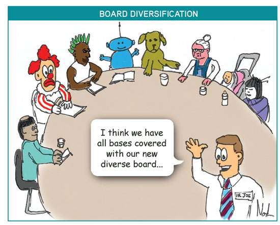 Board diversification