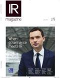 IR Magazine spring 2017 cover