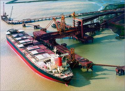 Port of Tubarão in Vitória, Brazil