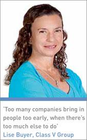 Lise Buyer, Class V Group