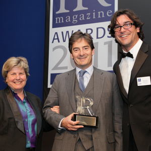 Child-Villiers at the IR Magazine Awards 2011