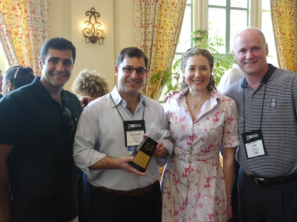 Hulus Alpay, Michael Becker, Kate McKay and Pat Tracey from NIRI-NY, which won the award for best large chapter