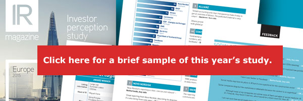 Investor Perception Study ‒ Europe 2015